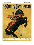 &quot;Sir 1930,&quot; Country Gentleman Cover, January 1, 1930 Giclee Print by William Meade Prince