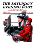 """Taxi Cab,"" Saturday Evening Post Cover, April 26, 1924 Giclee Print by Neil Hott"