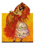 """Female Flamenco Dancer,""May 21, 1932 Giclee Print by Henry Soulen"