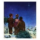 """Starry Starry Night,""December 1, 1950 Giclee Print by Douglas Crockwell"