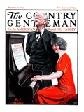 """Singing the Old Oaken Bucket,"" Country Gentleman Cover, February 17, 1923 Giclee Print by J.F. Kernan"