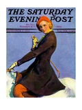 """Woman on Horseback,"" Saturday Evening Post Cover, September 17, 1932 Giclee Print by Guy Hoff"