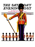 """Drum Major,"" Saturday Evening Post Cover, October 27, 1934 Giclee Print by Edgar Franklin Wittmack"