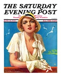 """Woman in White,"" Saturday Evening Post Cover, June 18, 1932 Giclee Print by Tempest Inman"