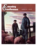"""Slopping the Pigs,"" Country Gentleman Cover, November 1, 1942 Giclee Print by Robert Riggs"