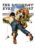 """Sick of Smoking,"" Saturday Evening Post Cover, May 6, 1933 Giclee Print by Harold Anderson"
