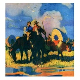"""Wagon Train,""March 1, 1926 Giclee Print by R.W. Crowther"