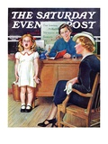 """In Front of the The Class,"" Saturday Evening Post Cover, April 30, 1938 Giclee Print by Frances Tipton Hunter"