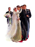 """Kissing the Best Man,""June 5, 1937 Giclee Print by Albert W. Hampson"