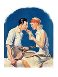 """Tennis Couple,""June 21, 1930 Giclee Print by James C. McKell"