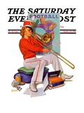 """Practicing the Trombone,"" Saturday Evening Post Cover, October 10, 1936 Giclee Print by Revere F. Wistehoff"