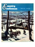 """Maple Sap Harvest at Dusk,"" Country Gentleman Cover, March 1, 1942 Giclee Print by Paul Sample"