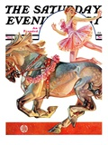 """Circus Bareback Rider,"" Saturday Evening Post Cover, May 14, 1932 Giclee Print by Joseph Christian Leyendecker"