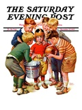 """You Can Be the Water Boy!,"" Saturday Evening Post Cover, November 27, 1937 Giclee Print by Frances Tipton Hunter"