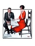 """""""Cross Words,""""February 21, 1925 Giclee Print by Harold Brett"""
