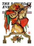 """Musical Jester,"" Saturday Evening Post Cover, December 26, 1931 Giclee Print by Joseph Christian Leyendecker"