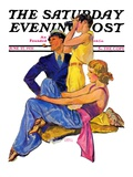 &quot;The Newport Set,&quot; Saturday Evening Post Cover, June 27, 1931 Giclee Print by John LaGatta