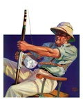"""Deep Sea Fisherman,""February 2, 1935 Giclee Print by Edgar Franklin Wittmack"