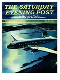"""Night Flight,"" Saturday Evening Post Cover, February 4, 1939 Giclee Print by Josef Kotula"