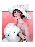 """Ermine Muff,""January 6, 1923 Giclee Print by Ellen Pyle"