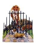 """Dog and His Bone,""March 5, 1927 Giclee Print by Robert L. Dickey"