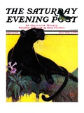 """Black Panther,"" Saturday Evening Post Cover, August 13, 1932 Giclee Print by Lynn Bogue Hunt"