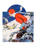 """Woman Skier,""February 14, 1931 Giclee Print by James C. McKell"