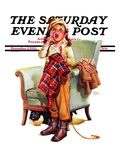 """Here Boy!,"" Saturday Evening Post Cover, December 5, 1936 Giclee Print by Frances Tipton Hunter"