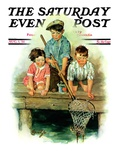 """Crabbing,"" Saturday Evening Post Cover, August 1, 1931 Giclee Print by Ellen Pyle"