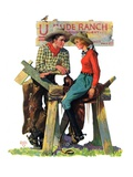 &quot;Dude Ranchers,&quot;July 23, 1932 Giclee Print by Charles Hargens