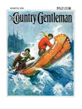 """Canoeing Through Rapids,"" Country Gentleman Cover, March 1, 1930 Giclee Print by Frank Schoonover"