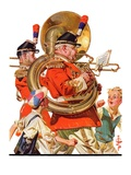 """Fourth of July Parade,""July 1, 1933 Giclee Print by J.C. Leyendecker"