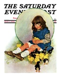 """Baby Chicks,"" Saturday Evening Post Cover, May 7, 1932 Giclee Print by Ellen Pyle"