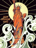 """Statue of Liberty,""July 7, 1934 Giclee-vedos tekijänä Joseph Christian Leyendecker"