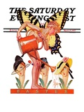 """""""Easter Fairy,"""" Saturday Evening Post Cover, March 27, 1937 Giclee Print by Joseph Christian Leyendecker"""