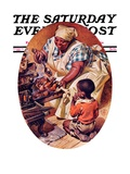 """Basting the Turkey,"" Saturday Evening Post Cover, November 28, 1936 Giclee Print by Joseph Christian Leyendecker"