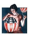 """Japanese Lantern,""June 28, 1924 Giclee Print by Katherine R. Wireman"