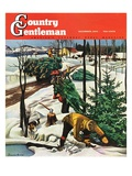 """Harvesting Christmas Trees,"" Country Gentleman Cover, December 1, 1942 Giclee Print by Francis Chase"