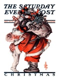 """Hug from Santa,"" Saturday Evening Post Cover, December 26, 1925 Giclee Print by Joseph Christian Leyendecker"