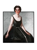 """Woman in Black Gown,""March 29, 1924 Giclee Print by Henry Soulen"