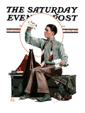 &quot;Dad, Where&#39;s the Cash,&quot; Saturday Evening Post Cover, November 14, 1925 Reproduction proc&#233;d&#233; gicl&#233;e par Alan Foster