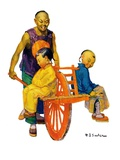 """Chinese Family,""April 2, 1927 Giclee Print by Henry Soulen"