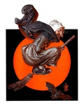 """Witches Night Out,""October 27, 1923 Giclee Print by Joseph Christian Leyendecker"