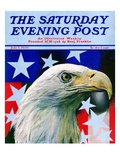 """Sam the American Eagle,"" Saturday Evening Post Cover, July 1, 1939 Giclee Print by Arthur H. Fisher"