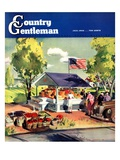"""Roadside Stand,"" Country Gentleman Cover, July 1, 1942 Giclee Print by Hardie Gramatky"