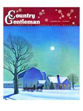 """Moonlit Sleighride,"" Country Gentleman Cover, December 1, 1943 Giclee Print by Kent Rockwell"