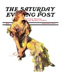 """Summer Frock,"" Saturday Evening Post Cover, August 3, 1935 Giclee Print by Guy Hoff"