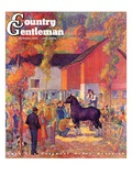"""Horse Auction,"" Country Gentleman Cover, October 1, 1944 Giclee Print by Henry Soulen"