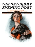 """Woman and Wolfhound,"" Saturday Evening Post Cover, October 17, 1925 Giclee Print by William Haskell Coffin"