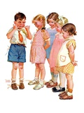 """""""Making Faces,""""July 10, 1937 Giclee Print by Frances Tipton Hunter"""